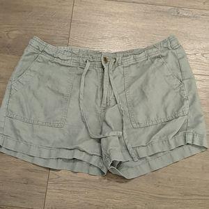 3/$20 Gap Factory Gray Linen Blend Shorts